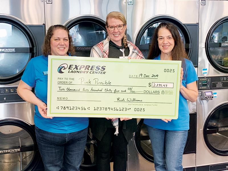 Oshkosh Express Laundry Center Donates to Breast Health Fund